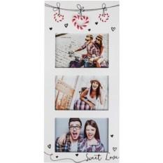 Рамка для 3 фото Сладкая любовь