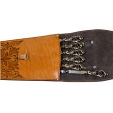 Шампура подарочные в колчане из натуральной кожи НОВИНКА!