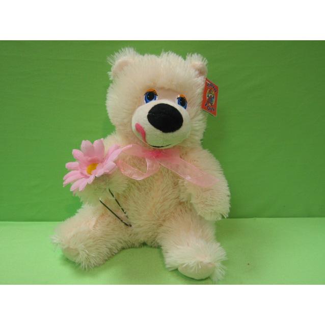 Медведь с цветком