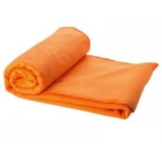 Оранжевый плед в чехле