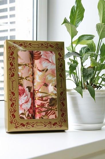 Подарочный набор полотенец Цветочный рай (2 полотенца)