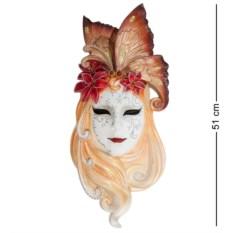 Большая венецианская маска Лилия (цвет — золотисто-белый)