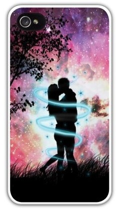 Чехол для iphone 4/4S (пластик), двое влюбленных