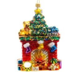 Ёлочная игрушка Камин с подарками