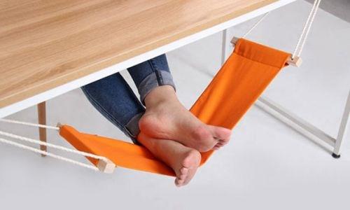 Оранжевый гамак для ног