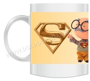 Кружка Супер Дедушка с вашей надписью