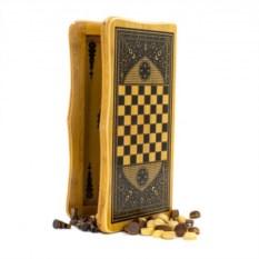 Набор настольных игр из нард, шахмат и шашек