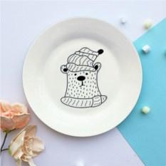 Фарфоровая тарелка Полярный мишка