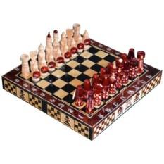 Резные шахматы Игра (30х15 см)