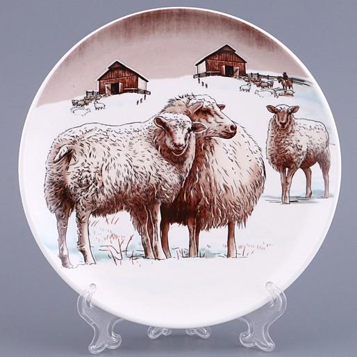 Декоративная настенная тарелка с символом года, 19 см