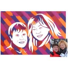 Набор для создания портрета Живописный рисунок для пары