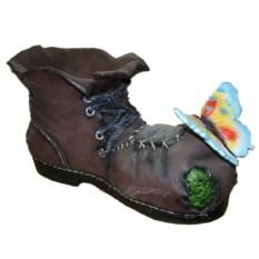 Кашпо Ботинок великана с бабочкой