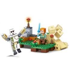 Конструктор Lele Minecraft Железный голем и Алекс