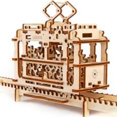 Механический 3D-конструктор Ugears «Трамвай с рельсами»