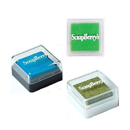 Пигментные чернила в ассортименте, синий/зелен./сереб.