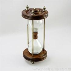 Песочные часы из дерева и латуни F.lli Capanni