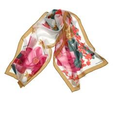 Шифоновый женский шарфик с цветами Laura Biagiotti