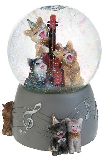 Музыкальное украшение для интерьера Шар – кошачье трио