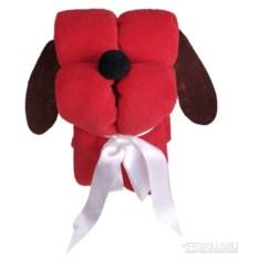 Красный игрушка-плед «Пёс-трансформер»