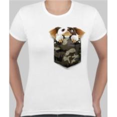 Женская футболка Гизмо в кармашке