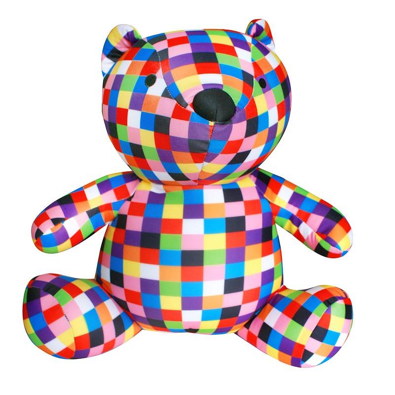 Игрушка-антистресс «Медведь клетчатый
