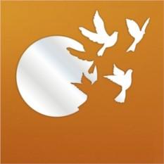 Декоративное зеркало Голуби с гнездом