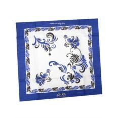 Синяя салфетка Цветы