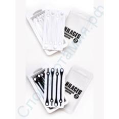 Черно-белый набор силиконовых шнурков Hilaces