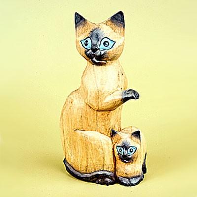 Статуэтка «Кошка с котёнком»