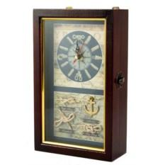 Ключница с часами Морские узлы