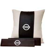 Набор из подушки, накладки на ремень безопасности Nissan