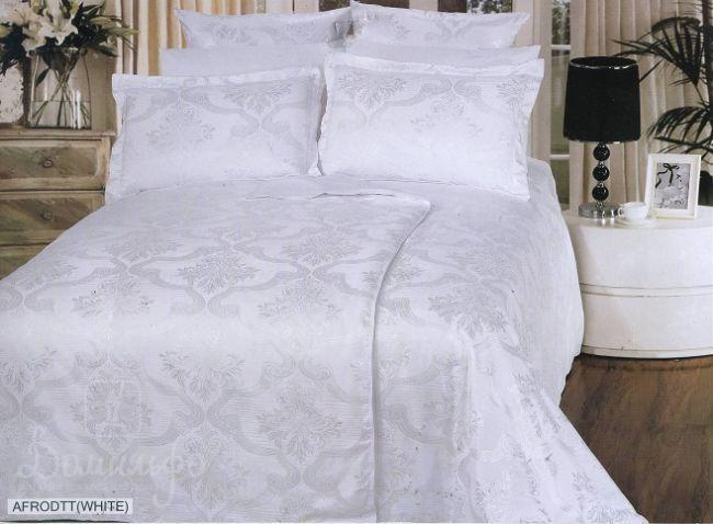 Постельное белье Afrodit White, 1,5-спальное