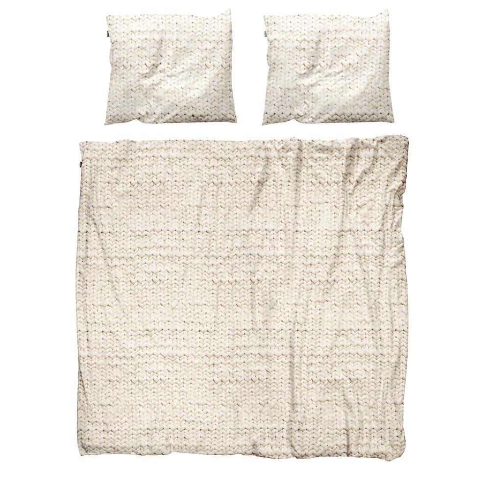 Бежевый комплект постельного белья Косичка