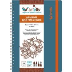 Голубой скетчбук Artefly