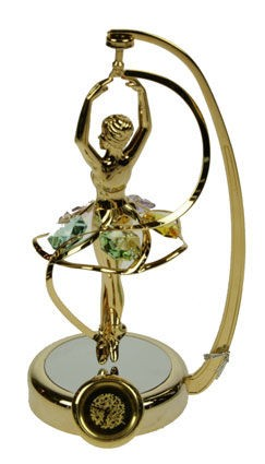 Фигурка с часами и кристаллами Балерина