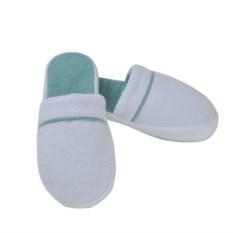 Домашние тапочки Hamam Qashmare Contrast (белые с голубым)