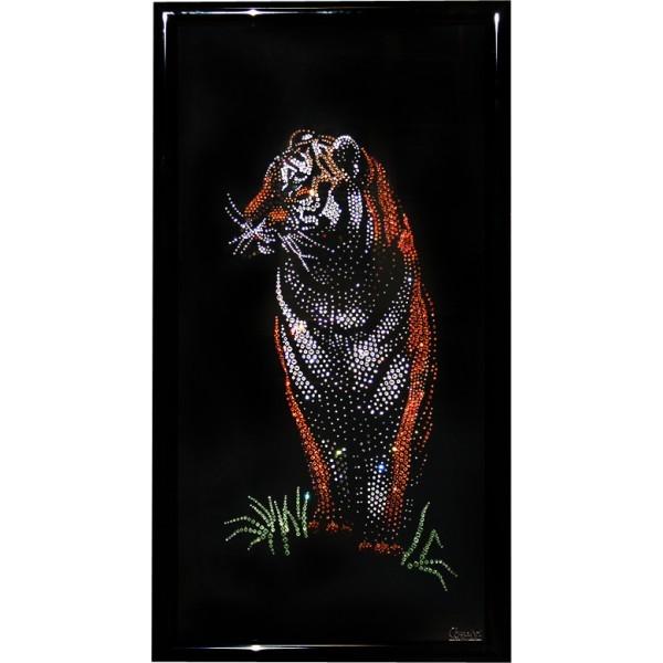 Картина с кристаллами Swarovski Бенгальский тигр