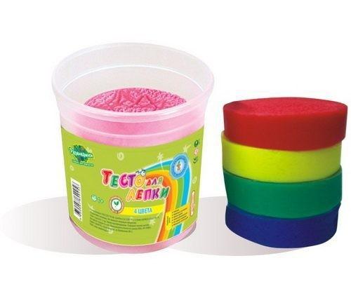 Тесто для лепки, 4 цвета