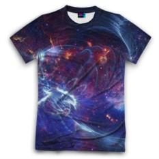 Мужская футболка 3D с полной запечаткой Космос