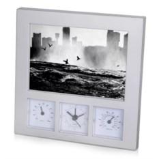 Погодная станция: часы, термометр, гигрометр, рамка для фото