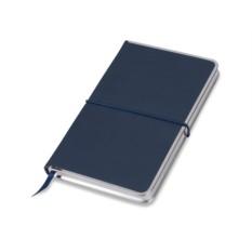 Синий блокнот Silver Rim