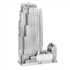3D пазл из металла Небоскреб Рокфеллер-плаза