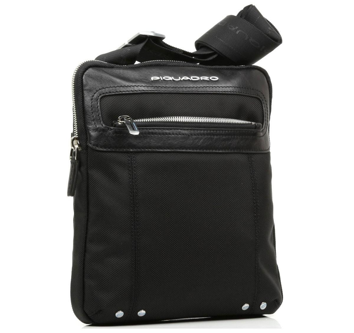 Черная мужская сумка на молнии Piquadro Link