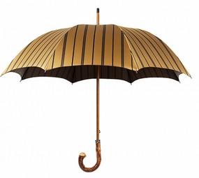 Зонт Mario Talarico, темно-желтый с бежевыми полосками