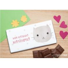 Шоколадная открытка «Любимый котик»