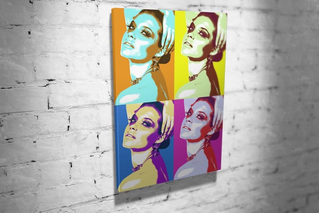 Портрет Pop art