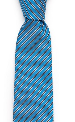 Синий в полоску галстук Fumagalli из шёлка