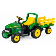 Детский электромобиль Peg-Perego Трактор JD Power Pull