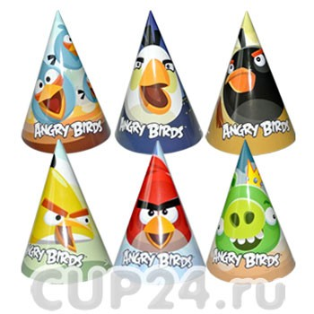 Колпачки Angry Birds (6 шт)