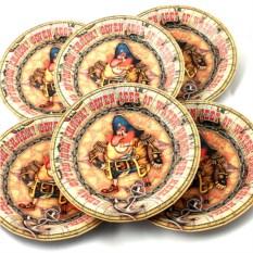 Набор из 6 тарелок Семь футов